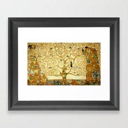 Gustav Klimt The Tree Of Life Framed Art Print