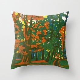 Bournemouth Gardens Throw Pillow