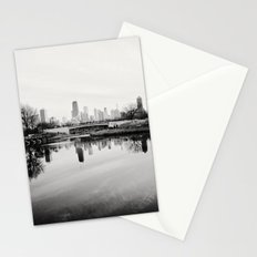 Chicago Skyline from South Pond Stationery Cards