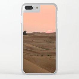 Arabian Desert Sunset Clear iPhone Case