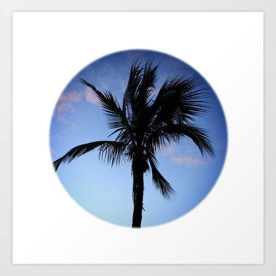 Palm at Sunset Art Print