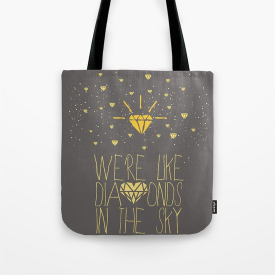 bright like a Diamond Tote Bag