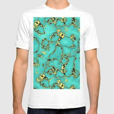 GOLD TURQUOISE LARGE White Mens Fitted Tee