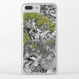 Mossy Stump Clear iPhone Case