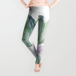 In Love Rose Cactus + Succulents Leggings