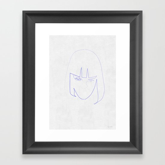 One Line Mia Wallace Framed Art Print