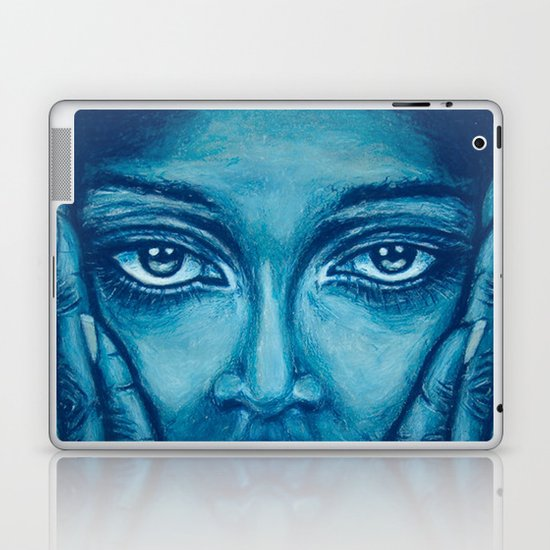 look at me-blue Laptop & iPad Skin
