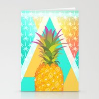 pineapples Stationery Cards featuring Pineapples by Ornaart