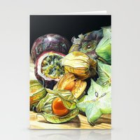 fruit Stationery Cards featuring FRUIT by Anne Hviid Nicolaisen