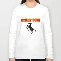 donkey Long Sleeve T-shirts featuring Donkey Dong by Metscha