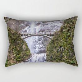 Multnomah Falls in Oregon Rectangular Pillow