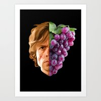 tyrion Art Prints featuring The God of Tits and Wine by Han Jihye