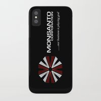 resident evil iPhone & iPod Cases featuring Corporate Evil by PsychoBudgie