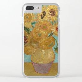 Vincent van Gogh - Sunflowers (1889) Clear iPhone Case