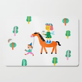 Colorful Cheerful Forest Cutting Board