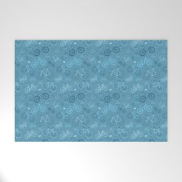 I love bikes in teal Welcome Mat