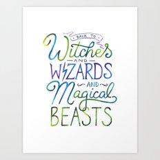 AVPM - Back To Hogwarts Art Print