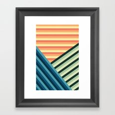 Stripes Are Us Framed Art Print
