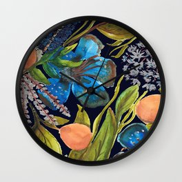 Tropic nuit Wall Clock