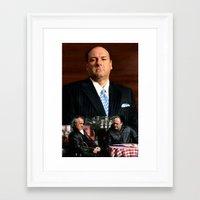 sopranos Framed Art Prints featuring The Sopranos - James Gandolfini Tribute 2 by Gabriel T Toro