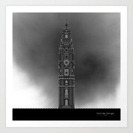 HexArchi - Portugal, Porto, Igreja dos Clérigos . Torre Art Print