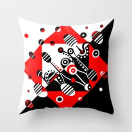 MICROGRAVITY - RED & BLACK Throw Pillow