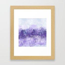 Choppy Purple Ocean Water Framed Art Print