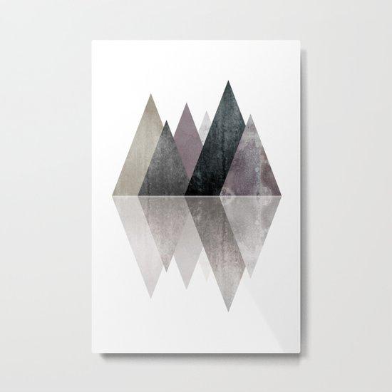 Modern Scandinavian Mountain Metal Print