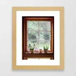 Out the Garden Window Framed Art Print