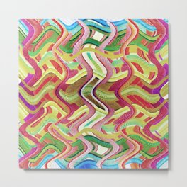 409 - Abstract Colour Design Metal Print