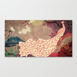 The Red Peacock Canvas Print