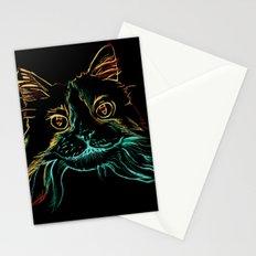 Fluffy Tuxedo Kitty Stationery Cards