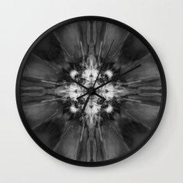 Black and white kaleidoscope pattern Wall Clock
