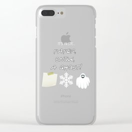 Paper, Snow, A Ghost! - Friends TV Show Clear iPhone Case