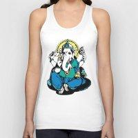 ganesha Tank Tops featuring Ganesha by Julie Rose Design