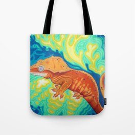 Red Crested Gecko Tote Bag