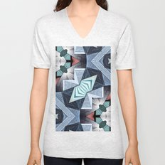 Abstract Structural Collage Unisex V-Neck