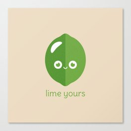 Lime Yours Canvas Print