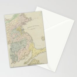 Vintage Geological Map of Massachusetts (1841) Stationery Cards