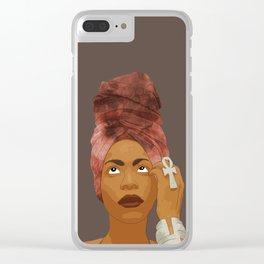 Erykah Badu, Brown Clear iPhone Case