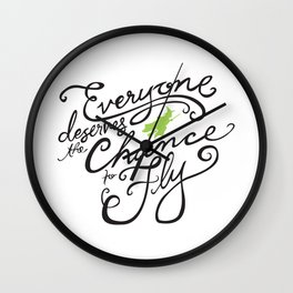 Everyone Deserves the Chance to Fly // Defying Gravity // Wicked Wall Clock