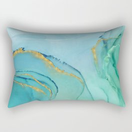 Abstract alcohol ink painting - Aprilette Rectangular Pillow