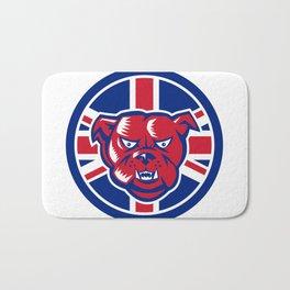 British Bulldog Union Jack Flag Icon Bath Mat