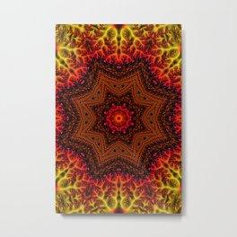 Fiery Fractal Mandala 2 Metal Print