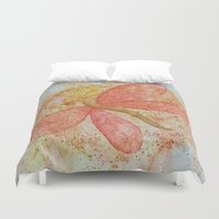 dragonfly Duvet Covers featuring Dragonfly by Crystal Nero