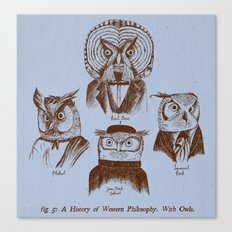 A History of Western Philosophy. With Owls. Canvas Print