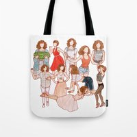 dirty dancing Tote Bags featuring Dirty Dancing - New version by Naineuh