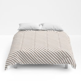 Warm Taupe Stripe Comforters