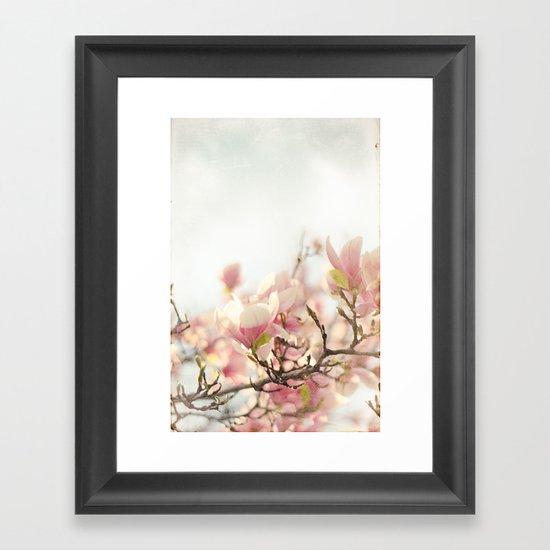Blooming Magnolia Framed Art Print