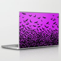 bats Laptop & iPad Skins featuring Bats by beach please